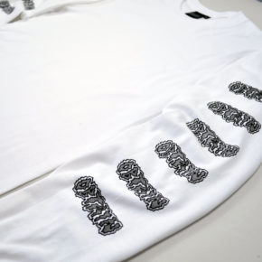 OBTAIN Acid Longsleeve Shirt. Color: white. 100% cotton. Handprinted in Germany.