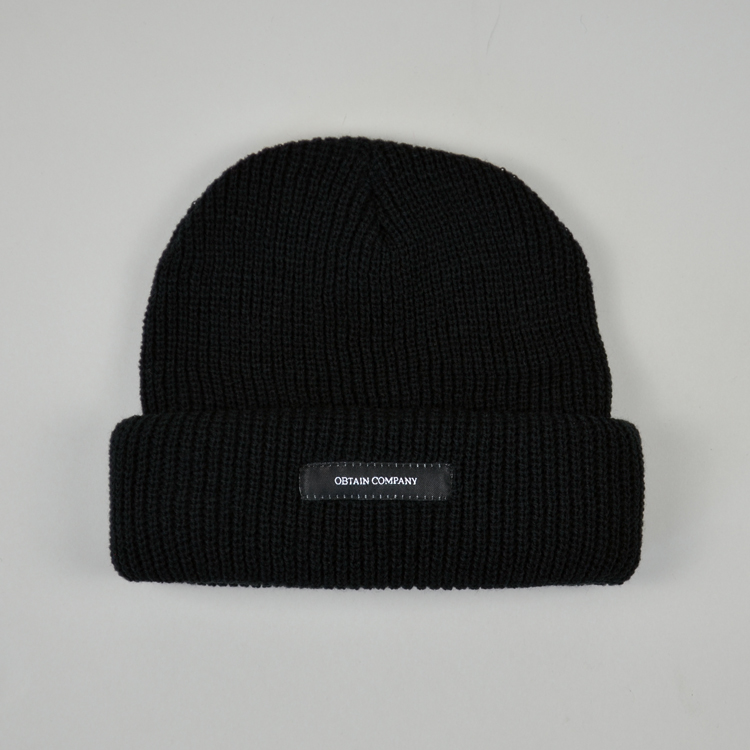 OBTAIN Shapka Beanie. Color: black.