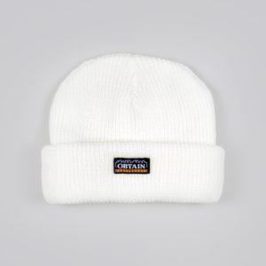 OBTAIN Downtown Beanie. Color: white