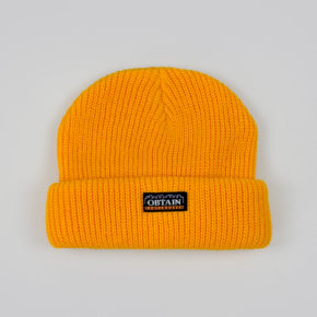 OBTAIN Downtown Beanie. Color: yellow.