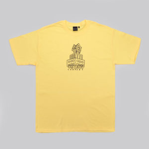 OBTAIN Dortmunder O T-Shirt. Handprinted in Germany. Color: yellow. 100% cotton.