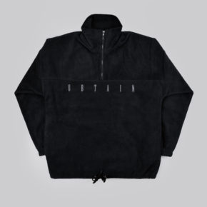 OBTAIN fleece jacket. Color: black.