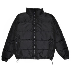 obtain black puffer jacket