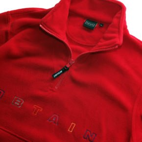obtain quarter zip fleece red