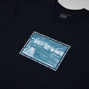 OBTAIN Union T-Shirt. Color: black. Handprinted in Germany. 100% cotton.