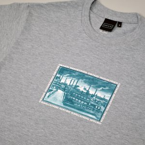 OBTAIN Union T-Shirt. Color: grey. Handprinted in Germany.